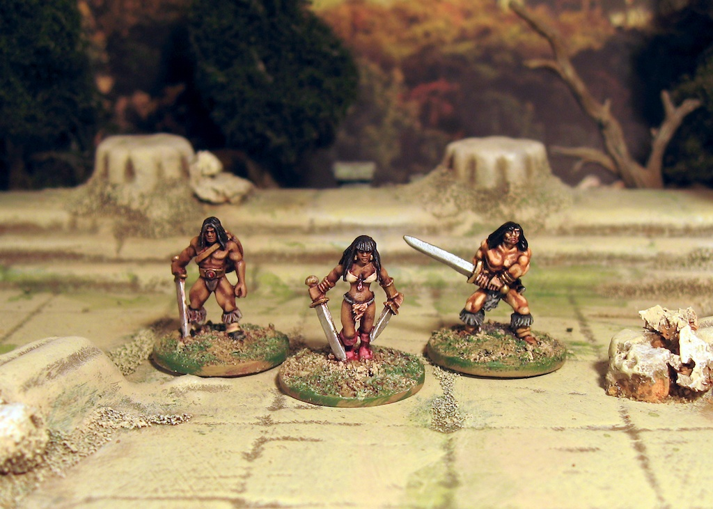 Copplestone 15mm Barbarians. Conan!