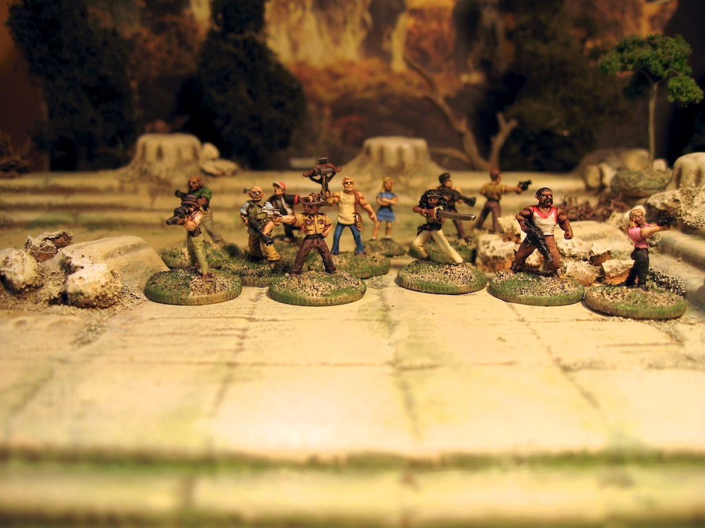 Khurasan Miniatures 15mm Walking Dead zombie survivors