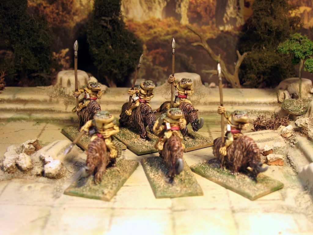 Khurasan 15mm Rhino riding Crocodiles or Alligators