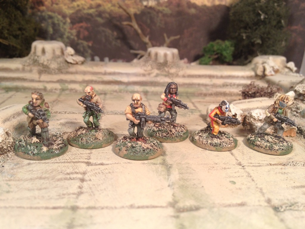 Oddzial Osmy 15mm Insurgents Rebels Post Apocalypse Survivors