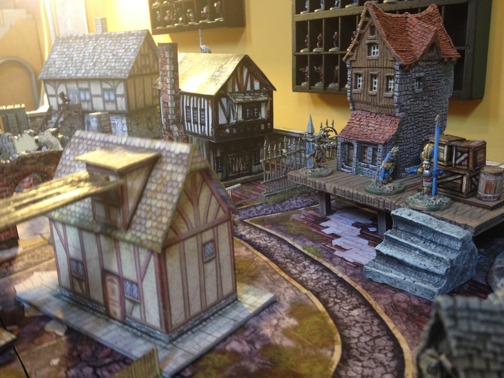 City Town Terrain for Mordheim or Frostgrave fantasy games