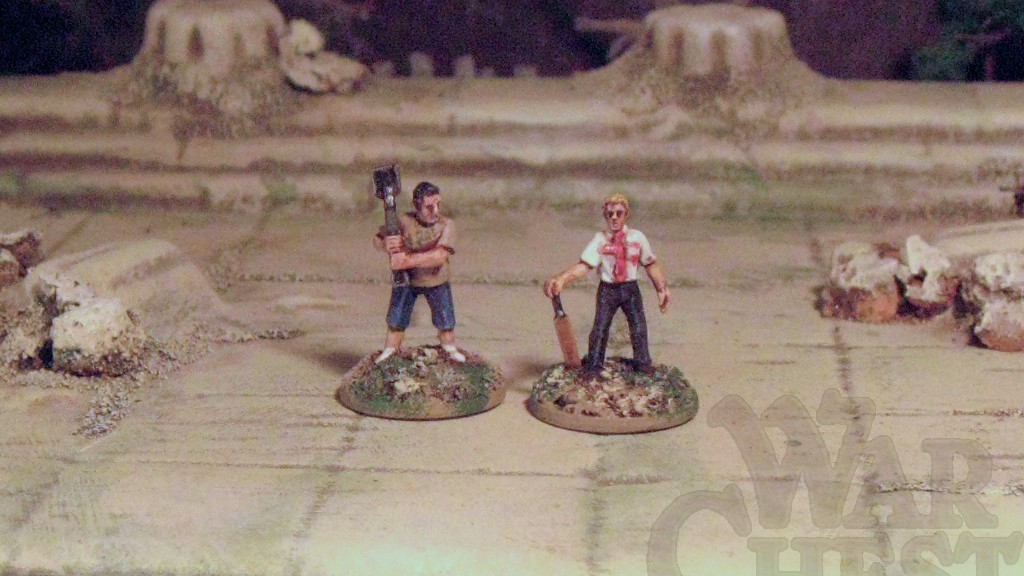 15mm Shaun of the Dead Simon Pegg and Nick Frost Zombie survivors Rebel Minis