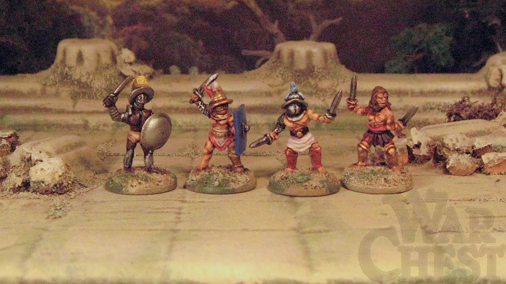 15mm Gladiators Arena Rex warriors Rebel Minis Museum Miniatures