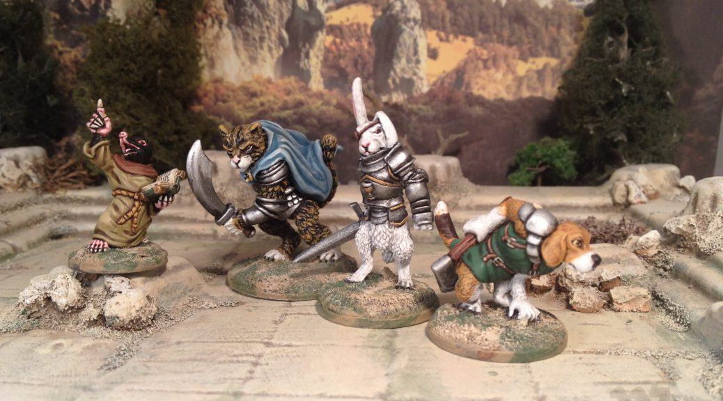 28mm Oathsworn Miniatures Burrows and Badgers Anthromophic Woodland Creatures