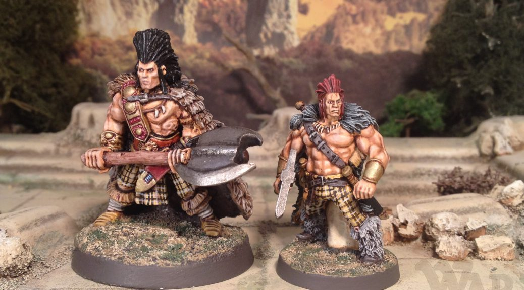 28mm Wargames Foundry Slaine Fantasy Barbarian 28mm Hasslefree Miniatures Volk the Bastard Fantasy Barbarian