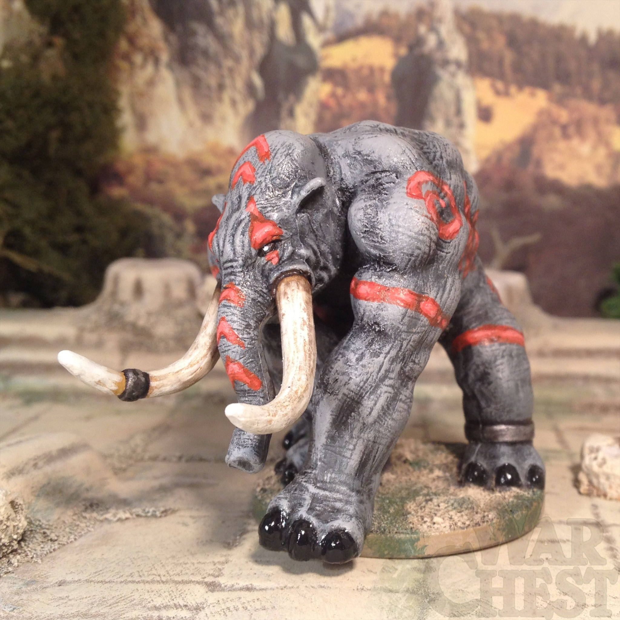 D&D Miniatures Game plastic war beast 15mm and 18mm