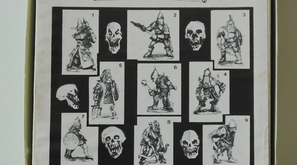 Pre-slotta Citadel Chaos fighter 1984 Specialty Set 3 - The Knights of Chaos 25mm pre-slotta Citadel miniatures