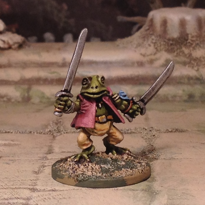 Splintered Light Miniatures 20mm Woodland Warrior Frog amphibian toad
