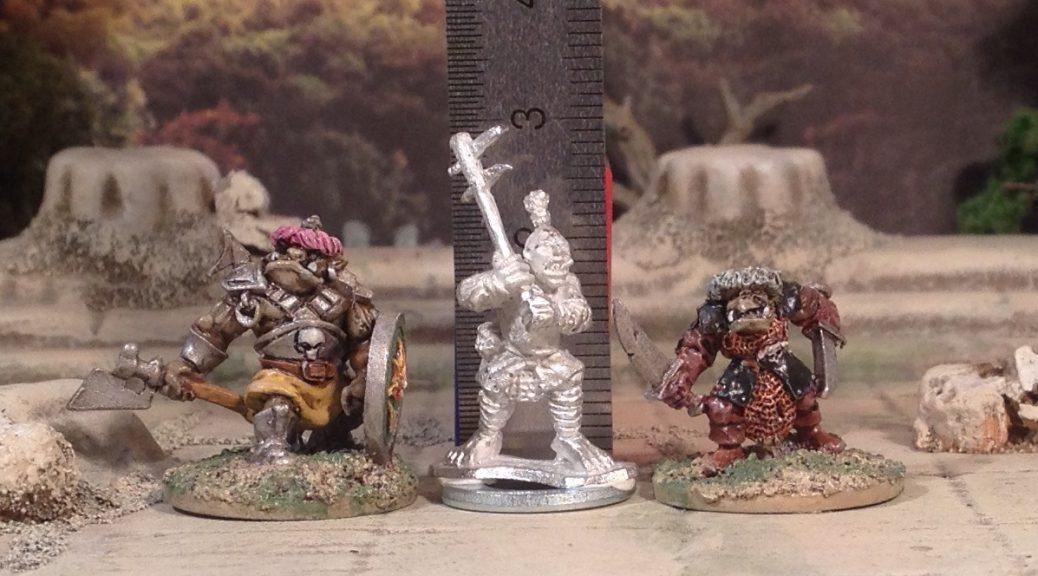 Black Gate 10mm Ogres 15mm scale comparison