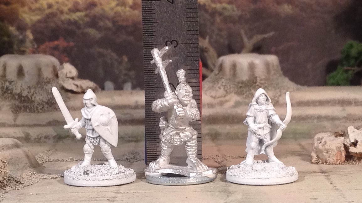Black Gate 10mm Ogres 15mm scale comparison