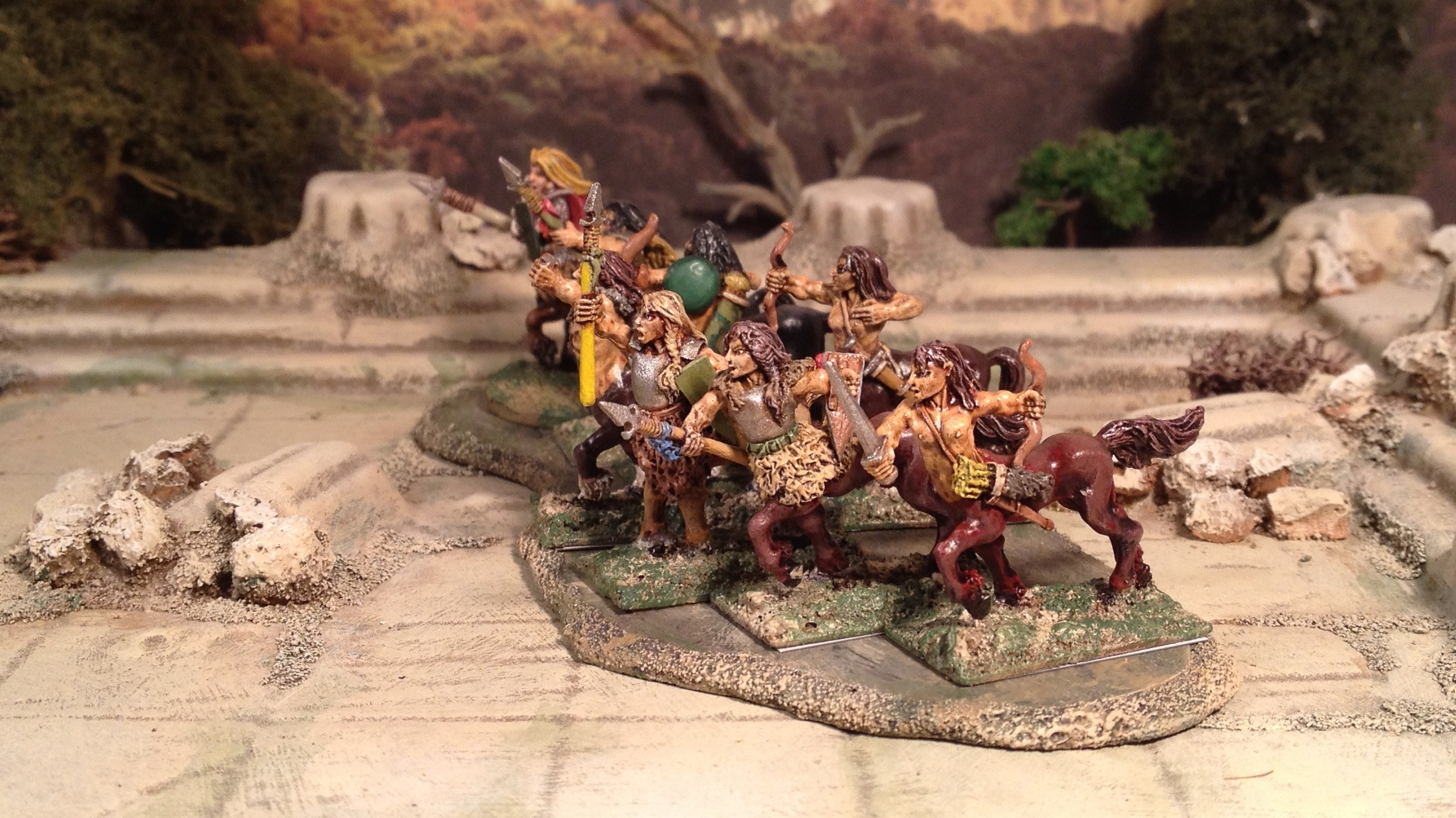 Demonworld 15mm centaurs magnetic basing