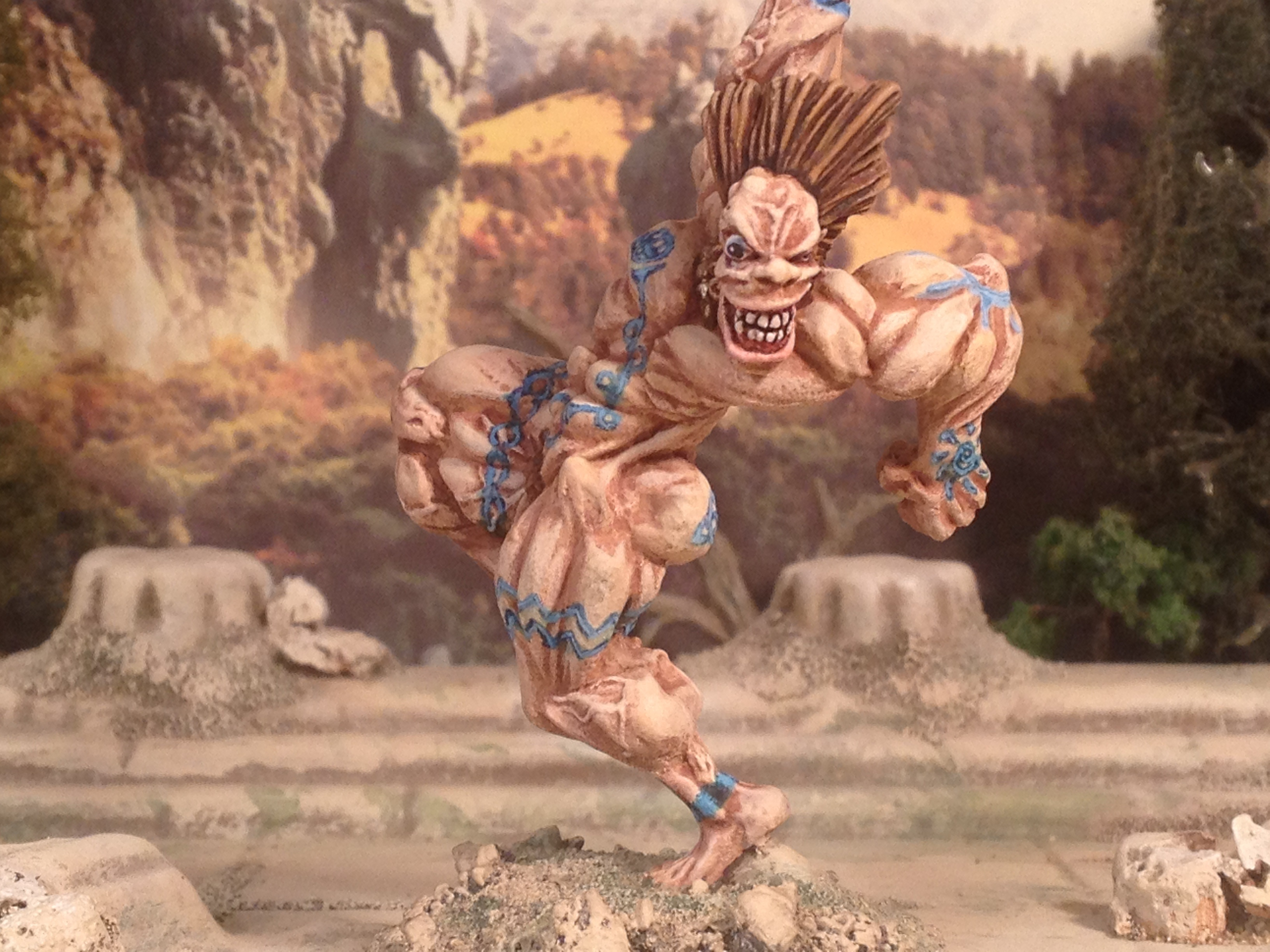 Wargames Foundry SLaine in Spasm beserk mode as Crom Cruach