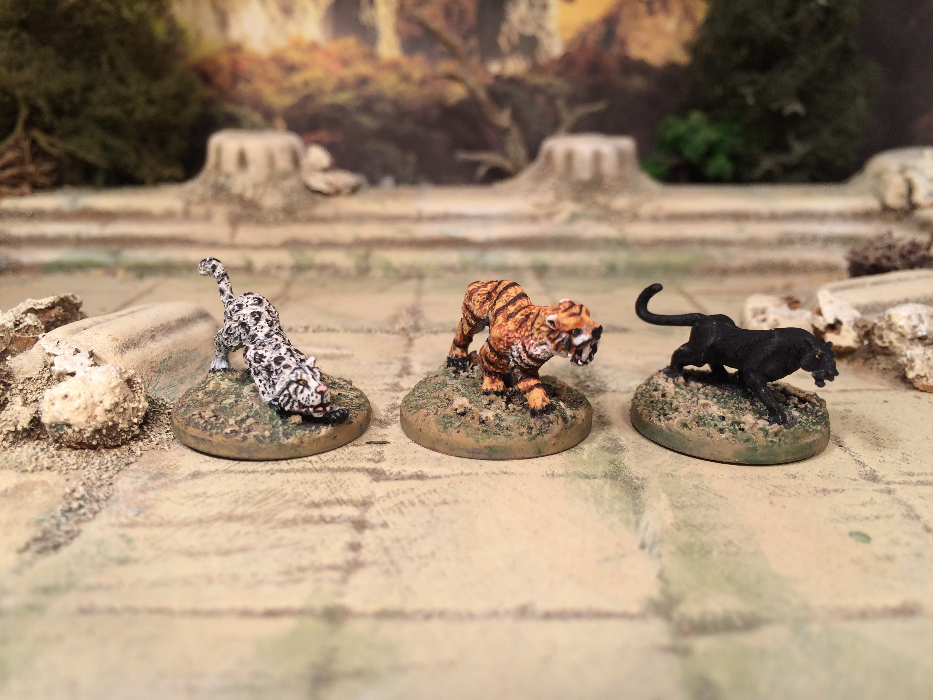 15mm big cats Frostgrave Fantasy Miniatures